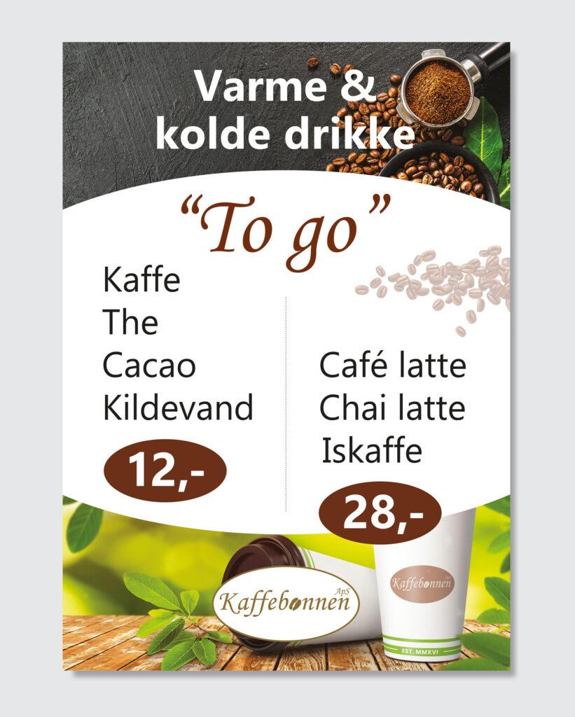 Kaffebønnen plakat til A-skilt